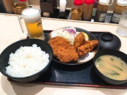 松乃屋のロースかつ&唐揚げ定食730円